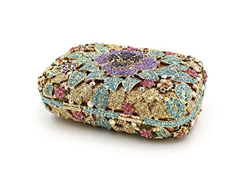 WYB Luxus volle Diamant Blume Diamant-Abendbeutel / High-End-Handgemachten Kristallbeutel / Braut Clutch