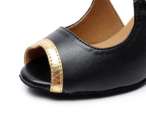 Salsa Modern Sandalias EU33 UK3 JSHOE Jazz Tea Altos Our34 Tango Mujer Para 5cm Shoes Samba Tacones Gold heeled7 dnnwqSI