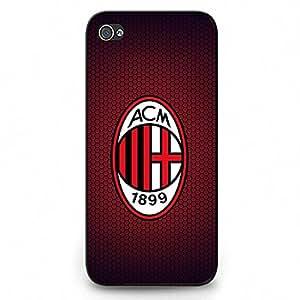 Iphone 5C Case,Associazione Calcio Milan Logo Protective Phone Case Black Hard Plastic Case Cover For Iphone 5C