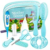 YELLODOOR Baby Grooming Kit | Essential Baby Care Accessories for Travelling & Home Use | with Manicure Set, Thermometer & Finger Puppet Toy | Ideal for Newborn, Infant, Toddler Girls & Boys | 17 Pcs