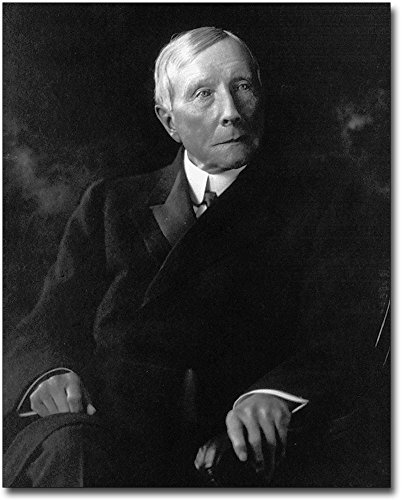 John D. Rockefeller Seated Portrait 1910 8x10 Silver Halide Photo Print by The McMahan Photo Art Gallery & Archive