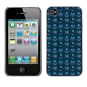 iKiki-Tech Estuche rígido para Apple iPhone 4 4S - Blue Skull