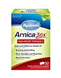 Hyland's Arnica Tablets 30X, Natural Homeopathic Relief of Bruising and Pain, 50 Count