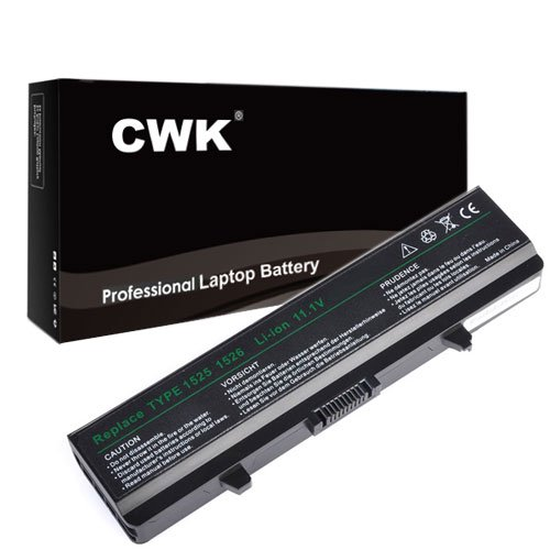 CWK High Performace New Laptop Battery for Dell Inspiron 1545 1525 1526 1546 Vostro 500 for Part #'s X284G XR693 312-0625 312-0633 312-0763 312-0844 451-10478 451-10533 GP952 J399N M911G RN873 RN873 RU586 [Li-ion 6-cell 5200mAh (4400mAh compatible)] 24 Months Warranty