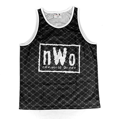 WWE NWO Retro Black & White Chalk Line Tank Top Medium by WWE Authentic Wear