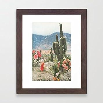 Holz gerahmte Bilder Kaktus Decor gerahmt Prints für Wohnzimmer ...