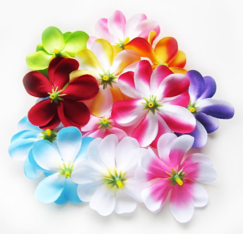100-Assorted-Hawaiian-Plumeria-Frangipani-Silk-Flower-Heads-3-Artificial-Flowers-Head-Fabric-Floral-Supplies-Wholesale-Lot-for-Wedding-Flowers-Accessories-Make-Bridal-Hair-Clips-Headbands-Dress