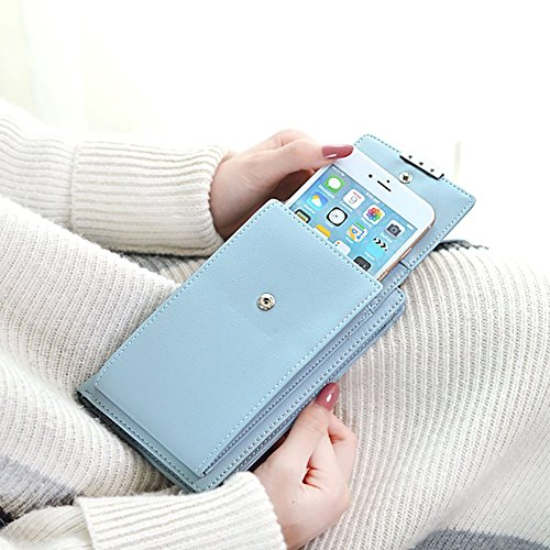Girls Phone Shoulder For Grey Small Women Wallet Purse Cell Strap with Crossbody 1 Bag qZnWARP