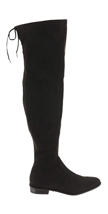 4cb2258d269 Marc Fisher Faux Suede Velvet Over-The-Knee Boots Hulie Black 6.5W New
