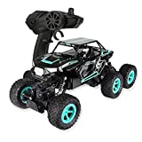 Physport RC Road 6WD Racing Car Climbing Vehicle Monster Truck 1:14 Scale 2.4Ghz High Speed Remote Control Toys (Blue)