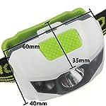 Vanker Lampe torche frontale avec piles rechargeables et 4modes de lumière pour camping, pêche, vélo, course, chasse 10