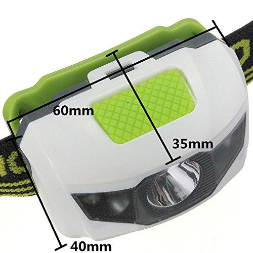 Vanker Lampe torche frontale avec piles rechargeables et 4modes de lumière pour camping, pêche, vélo, course, chasse 5