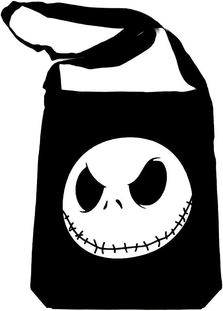 Nightmare Before Christmas Jack Skellington Face Drawstring Bag 15 1//2 Inch