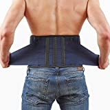 Back Support Lower Back Brace - provides Back Pain Relief – Breathable Lumbar Support keeps your Spine Straight and Safe - Medium size Belt for Women Men