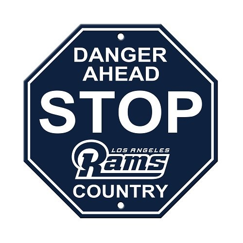"NFL Los Angeles Rams Stop Sign, 12"" x 12"