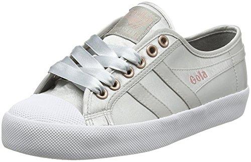 Femme Baskets Coaster white Satin Gola Argent Silver white Jw silver aZXqIWw