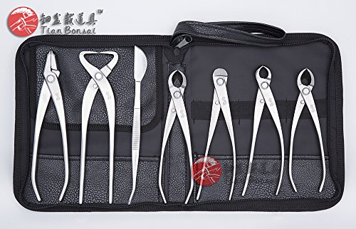 7 Pcs Bonsai Tool Kit JTTK-05 Master's Grade Bonsai Tools From TianBonsai by Master's Bonsai Tool Kit