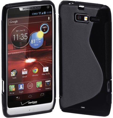 Cimo S-Line Back Case Flexible TPU Cover for Motorola DROID RAZR M (XT907, 4G LTE, Verizon) - Black
