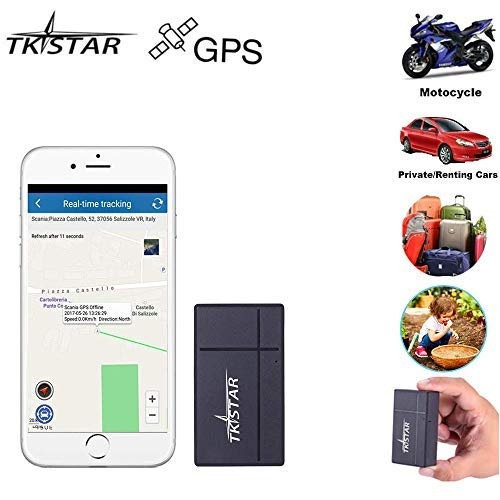 Mini GPS Tracker Anti Thief Real Time GPS Tracker Portable GPS Tracking Anti Loss GPS Locator Long Standby Time 200h for Kids Bags Vehicles Valuables TK901 with SIM Card
