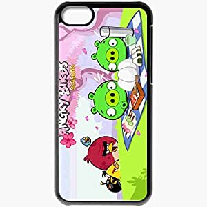 Personalized iPhone 5C Cell phone Case/Cover Skin Angry Birds Black