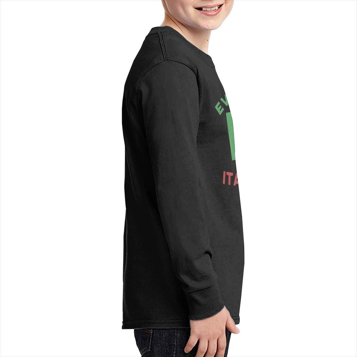 Teenagers Teen Girls Everyone Loves A Nice Italian Boy Flag-1 Printed Long Sleeve 100/% Cotton T-Shirts