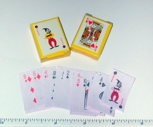 - Rhode Island Novelty ~ 12 Decks ~ Teeny Tiny Paper Playing Cards ~ Approx. 1