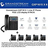 Grandstream GXP1615 1-Line IP Phone 6-PACK POE LCD display 3way conference