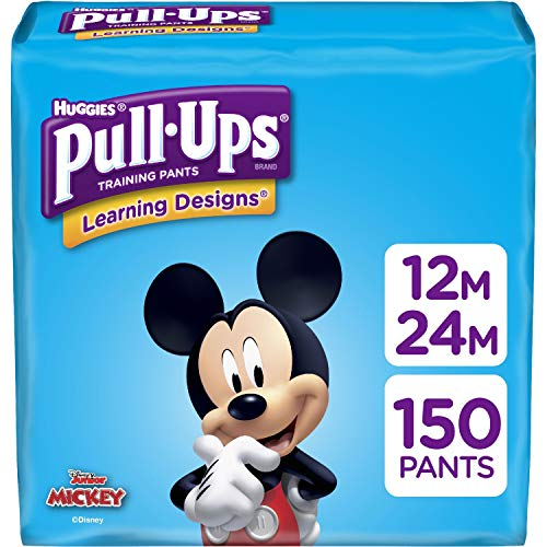 Pull-Ups Learning Designs for Boys, Potty Training Pants, Size 12-24 Months, 150 Count, One Month Supply (Packaging May Vary)