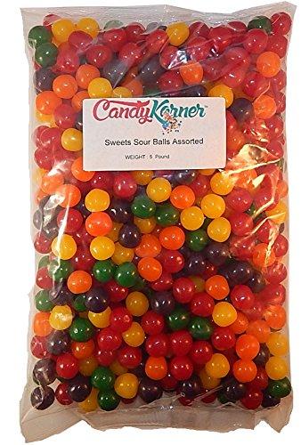- Sweet's Sour Balls Assorted Fruit 5 Pound (80 OZ)