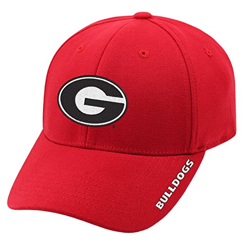 Top of the World NCAA-Premium Collection-One-Fit-Memory Fit-Hat Cap-Georgia (Bulldogs One Fit Cap)