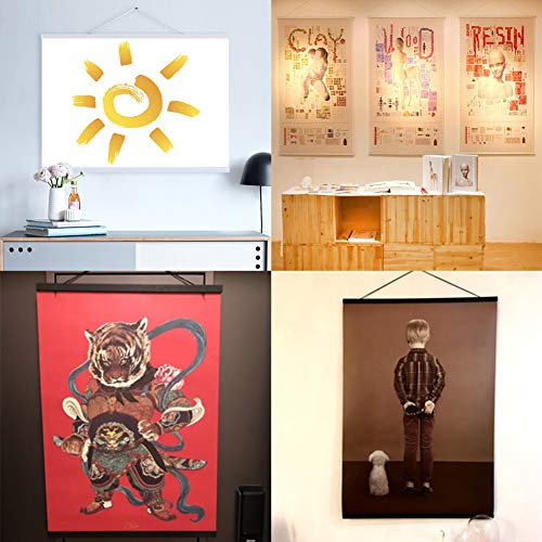 WITUSE Magnetic Poster Hangers Magnetic Poster Frame Poster Hangers Wooden Canvas Frame Magnetic Canvas Frame deowl Poster Hanger by WITUSE (Image #7)