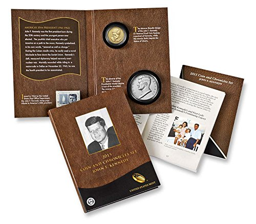 (2015 P Presidential Coin & Chronicles Set - John F. Kennedy (AX3) Reverse Proof)