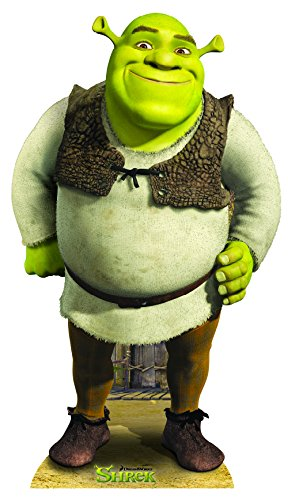 SHREK-MONSTER-OGRE-LIFESIZE-CARDBOARD-STANDUP-STANDEE-CUTOUT-POSTER-FIGURE-PROP (Cut Out Standee)