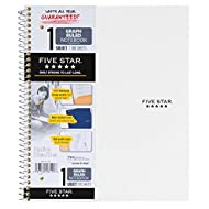 "Five Star Spiral Notebook, 1 Subject, Graph Ruled Paper, 100 Sheets, 11"" x 8-1/2"", Color Will Vary (06190)"