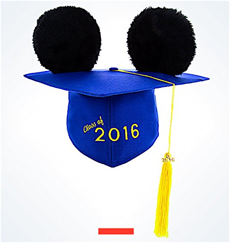 Disney Parks 2016 Graduation Graduate Mickey Mouse Ears Hat Mortar Board NEW (Graduate Hat)