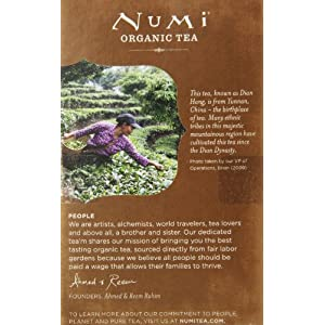 Numi Organic Tea Chinese Breakfast, Full Leaf Black Tea, 18 Count non-GMO Tea Bags