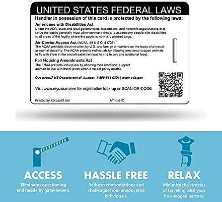 xpressid holográfica Servicio perro ID y Handler ID (Custom ...
