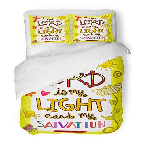 SanChic Duvet Cover Set Christian Bible Scripture Doodle Christianity Encouragement Faith God Decorative Bedding Set Pillow Sham Twin Size by SanChic
