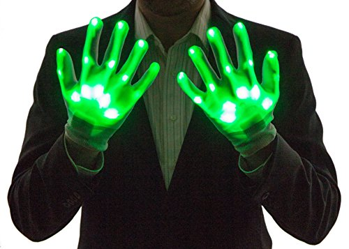 Neon Nightlife Light Up Gloves for Kids, LED, Green]()