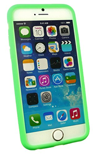 Emartbuy® Lápiz Óptico Paquete para Apple Iphone 6 6G 6S 4.7  Inch Pellicola Protettiva + Metallic Mini Negro Lápiz Óptico + Ultrafina a Presión TPU Gel Funda Carcasa Case Cover Negro Verde Silicon