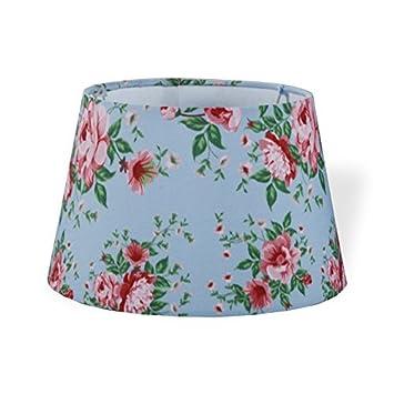 Druline Lampenschirm Stoff Textil Leinen Shabby Chic Landhaus Lampe