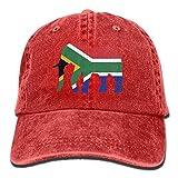 wuhgjkuo Elephant South Africa Flag Vintage Adjustable Denim Hat Baseball Caps ForAdult