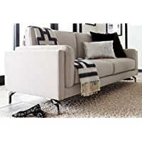 Elle Decor Remi Sofa, Fabric, Cream