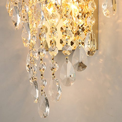 MILUCE Luxury k9 crystal wall lamp led gold living room bedroom bedside dining room wall lamp European lighting by MILUCE (Image #5)