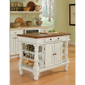 terrific antique white kitchen island   Amazon.com: Home Styles 5094-94 Americana Kitchen Island ...