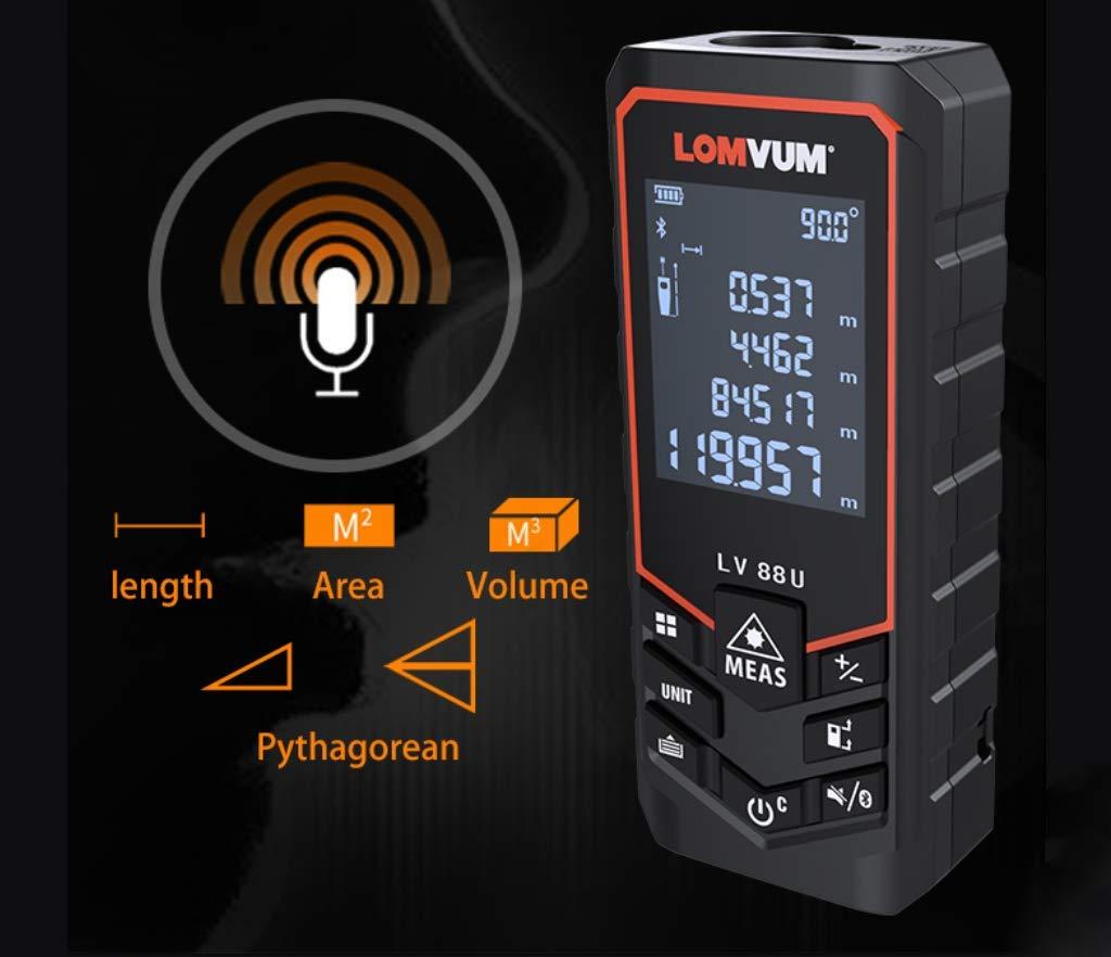 40m,50m,60m,80m,100m,120m Bluetooth USB Laser Rangefinders Digital Laser Distance Meter Distance Battery-Powered Measurer Laser ,40m