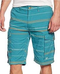 LRG Striped Cargo Shorts Light Teal, 32