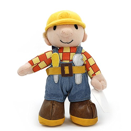YODE 20cm Bob The Builder Plush Toys Cute Bob Plush Doll Soft Stuffed Cute Kawaii Cartoon Baby Toys For Kids (Builder Plush Toy)