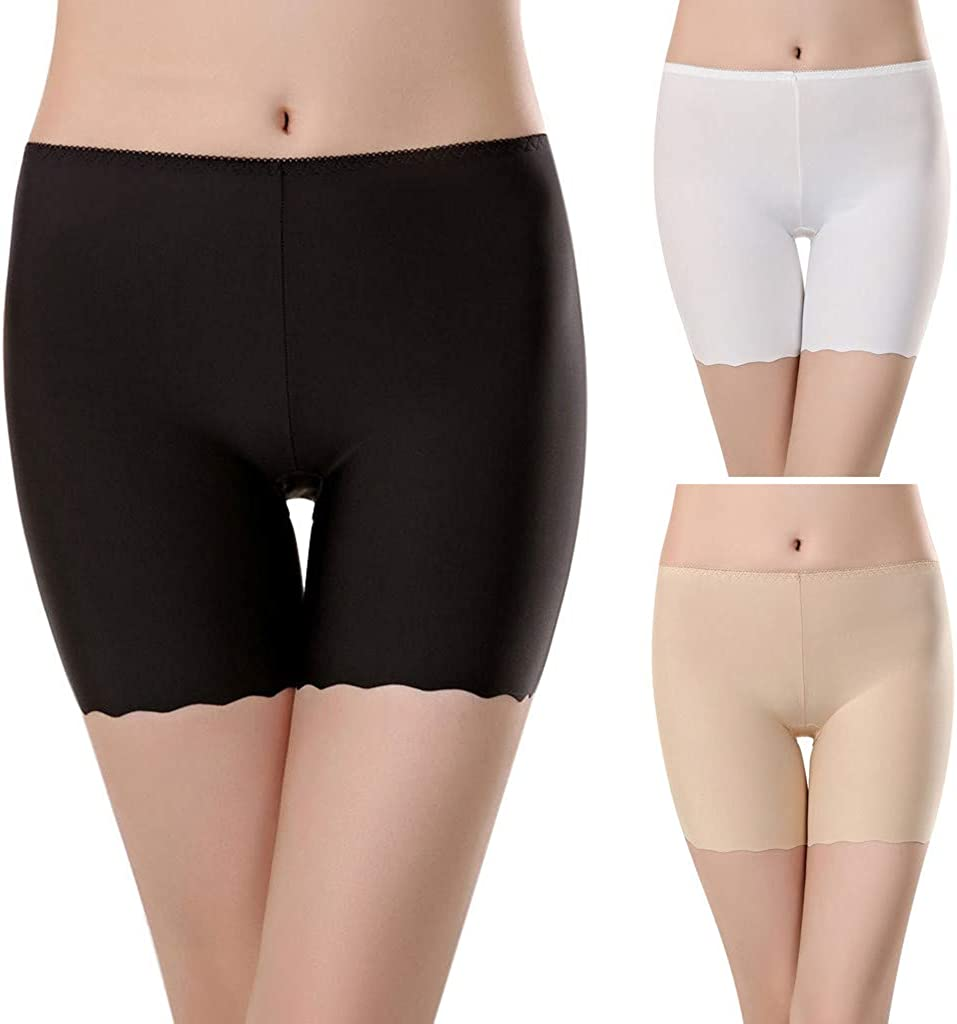 Details about  /Ladies Stretchy Underwear Shorts Seamless Leggings Slim Fit Lace Safety Briefs