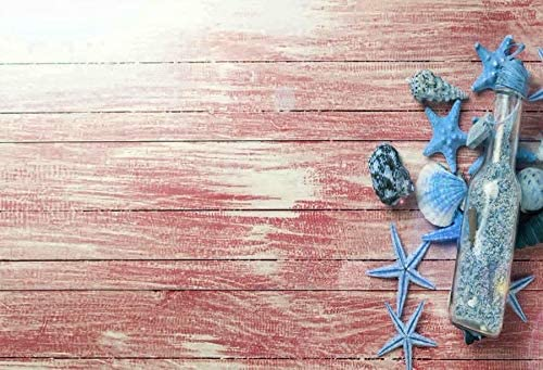 Red Wooden Board and Blue Starfish Wedding Baby Photography Background Custom Photography Studio Photography Background